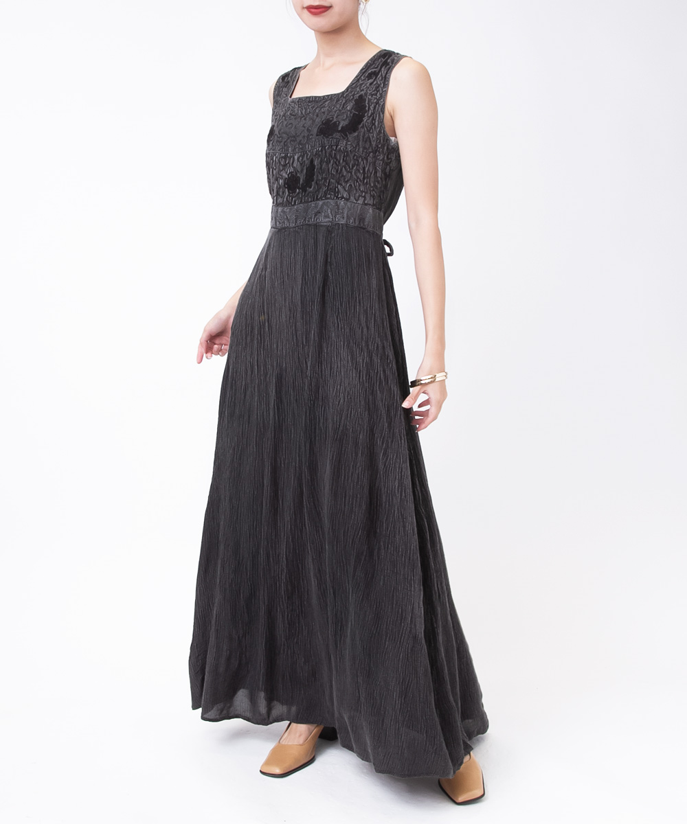 Black Ethnic Embroidery Dress