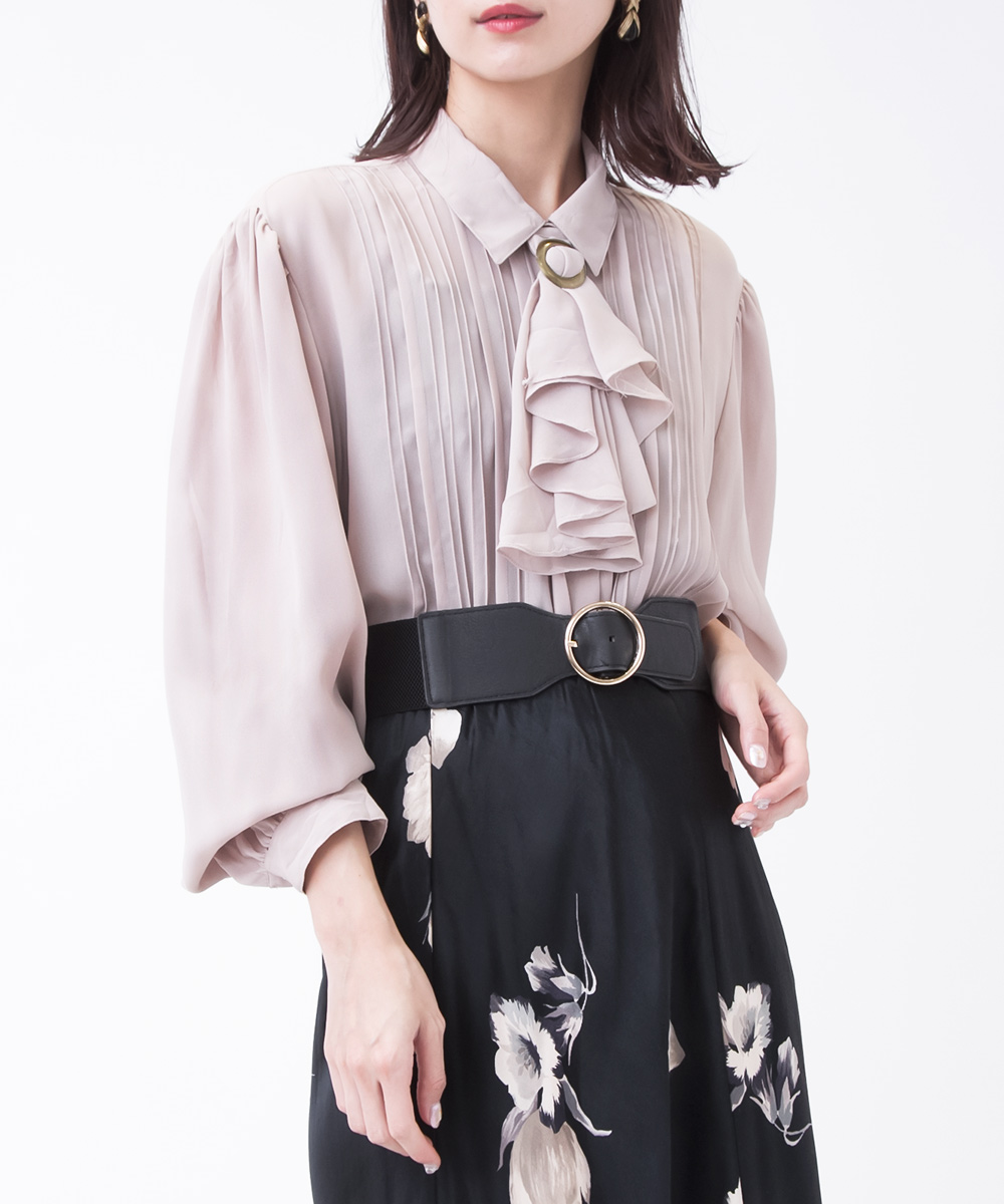 Dusty Pink Sheer Design Blouse