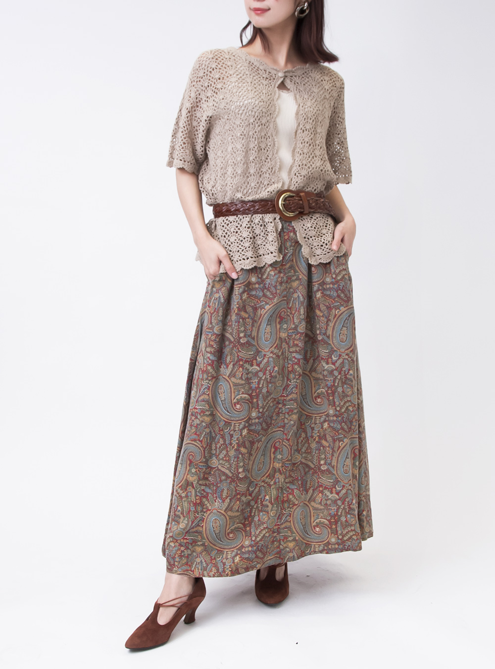 Paisley×Flower Exotic Skirt