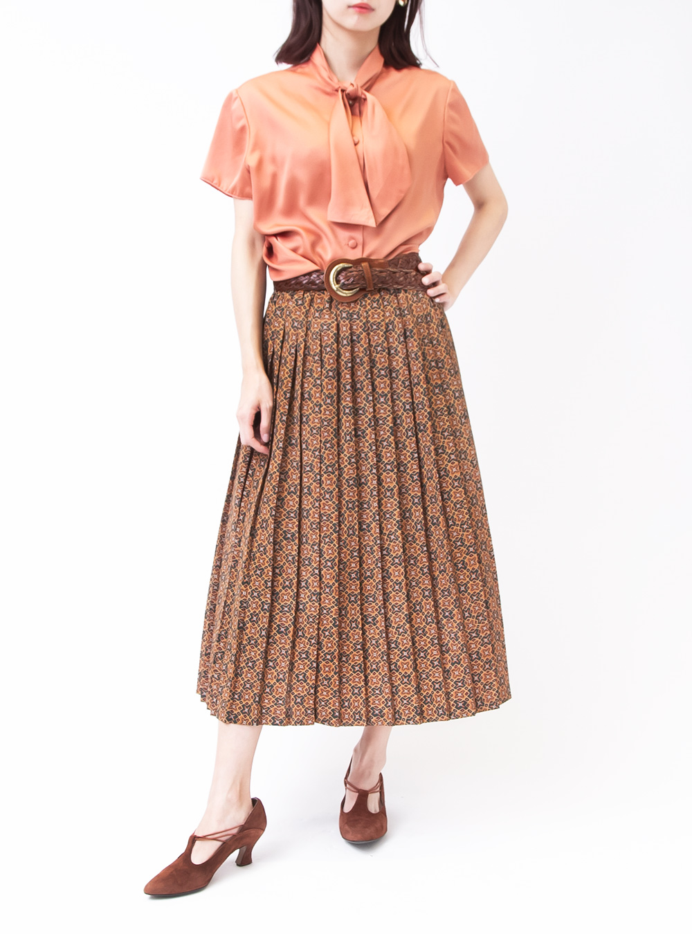 Oriental Pleats Design Skirt