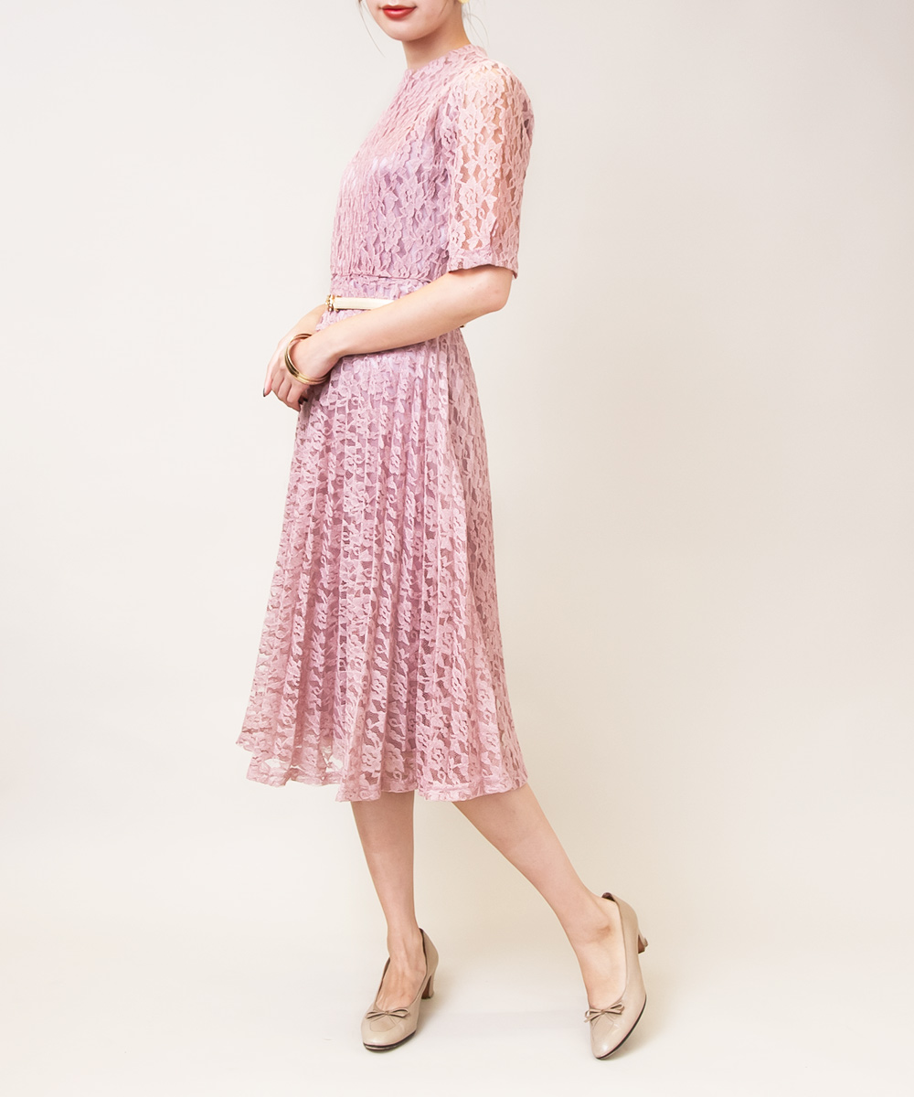 Light Pink Total Lace Dress