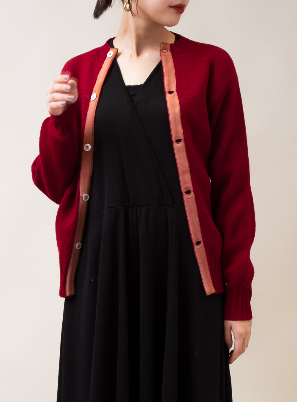 1960's-1970's Red Colour Cardigan