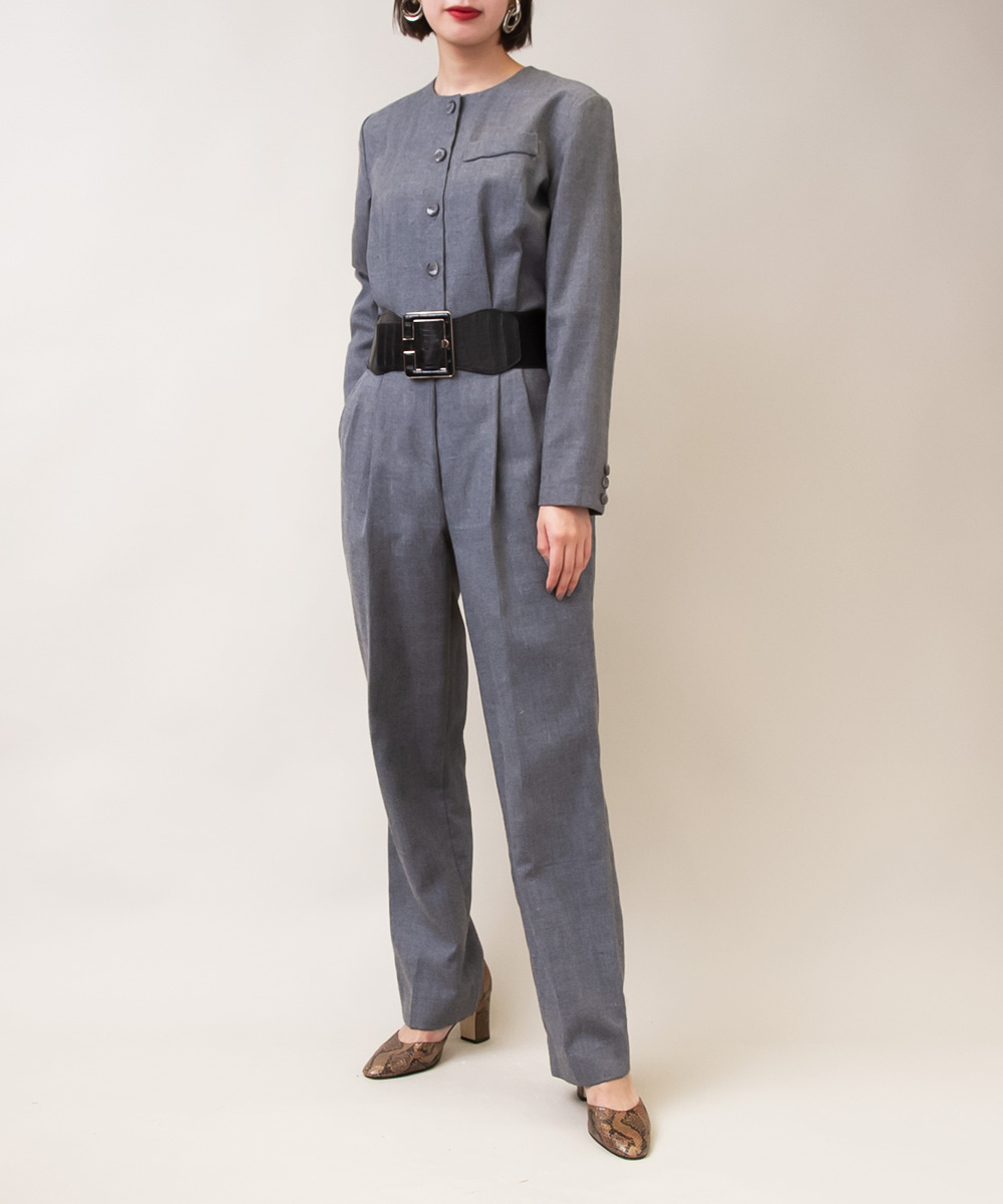 Mix Color Gray Jump Suits