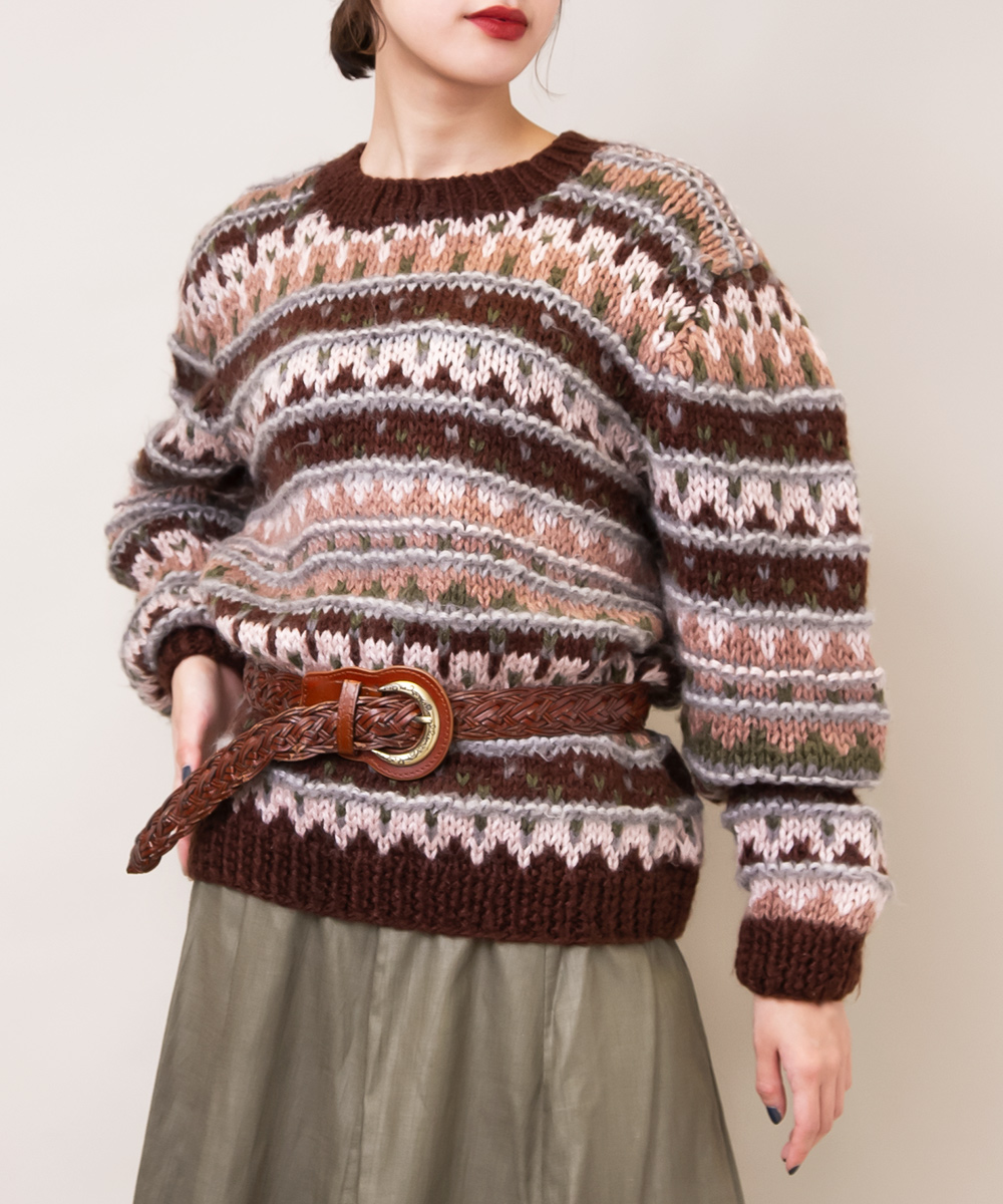 Soft Tone Color × Dark Brown Knit