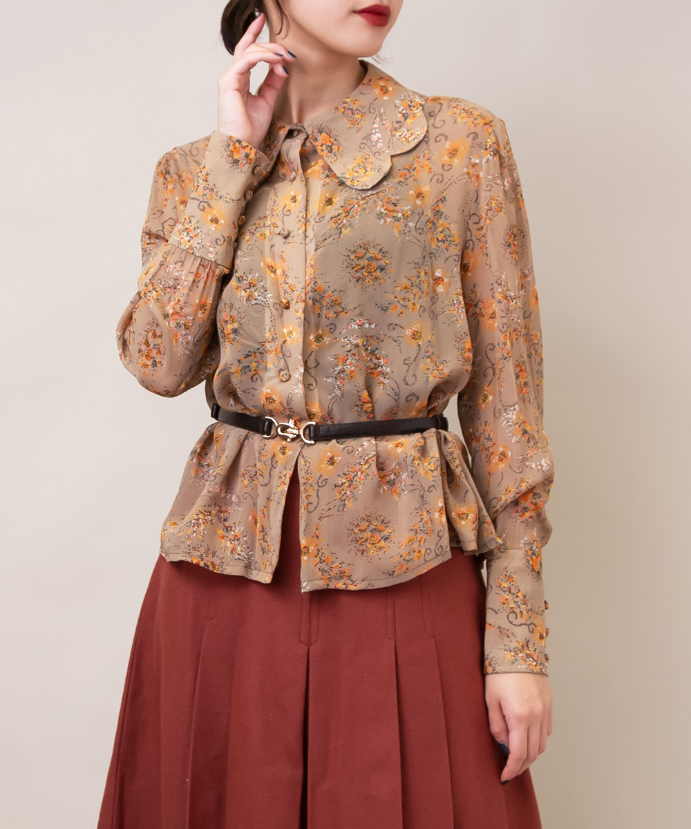 Brown Art Touch Design Blouse