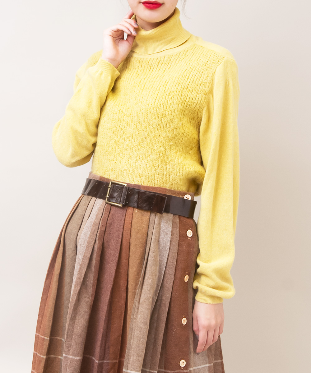 Yellow Design Knit