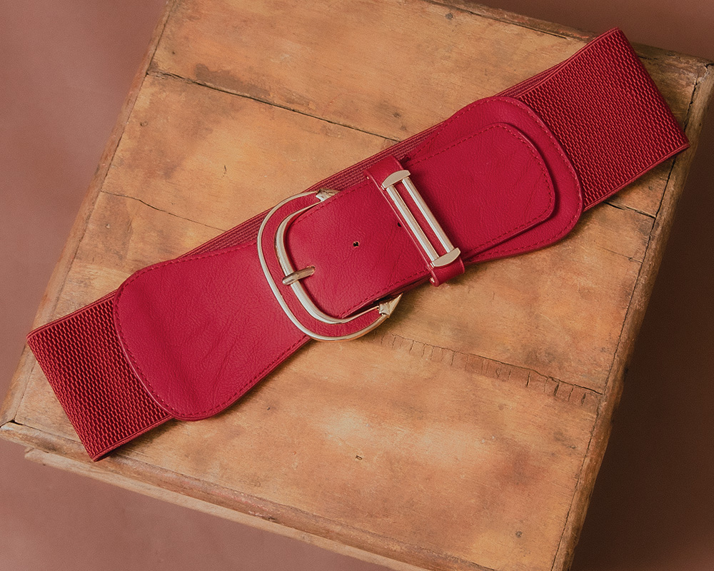 Red Big Buckle Belt