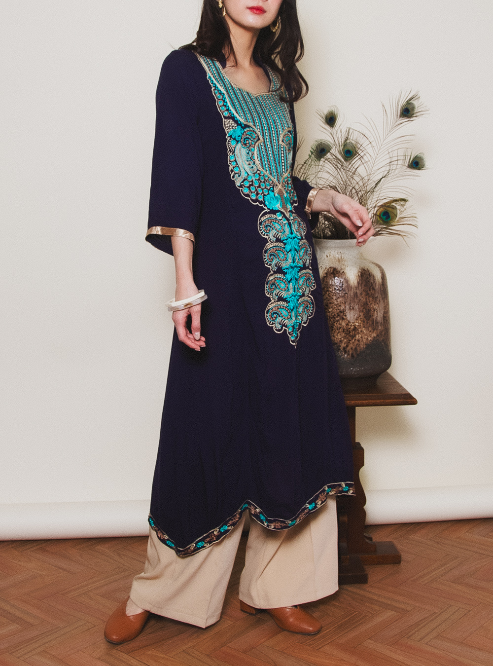 Embroidery Ethnic Dress