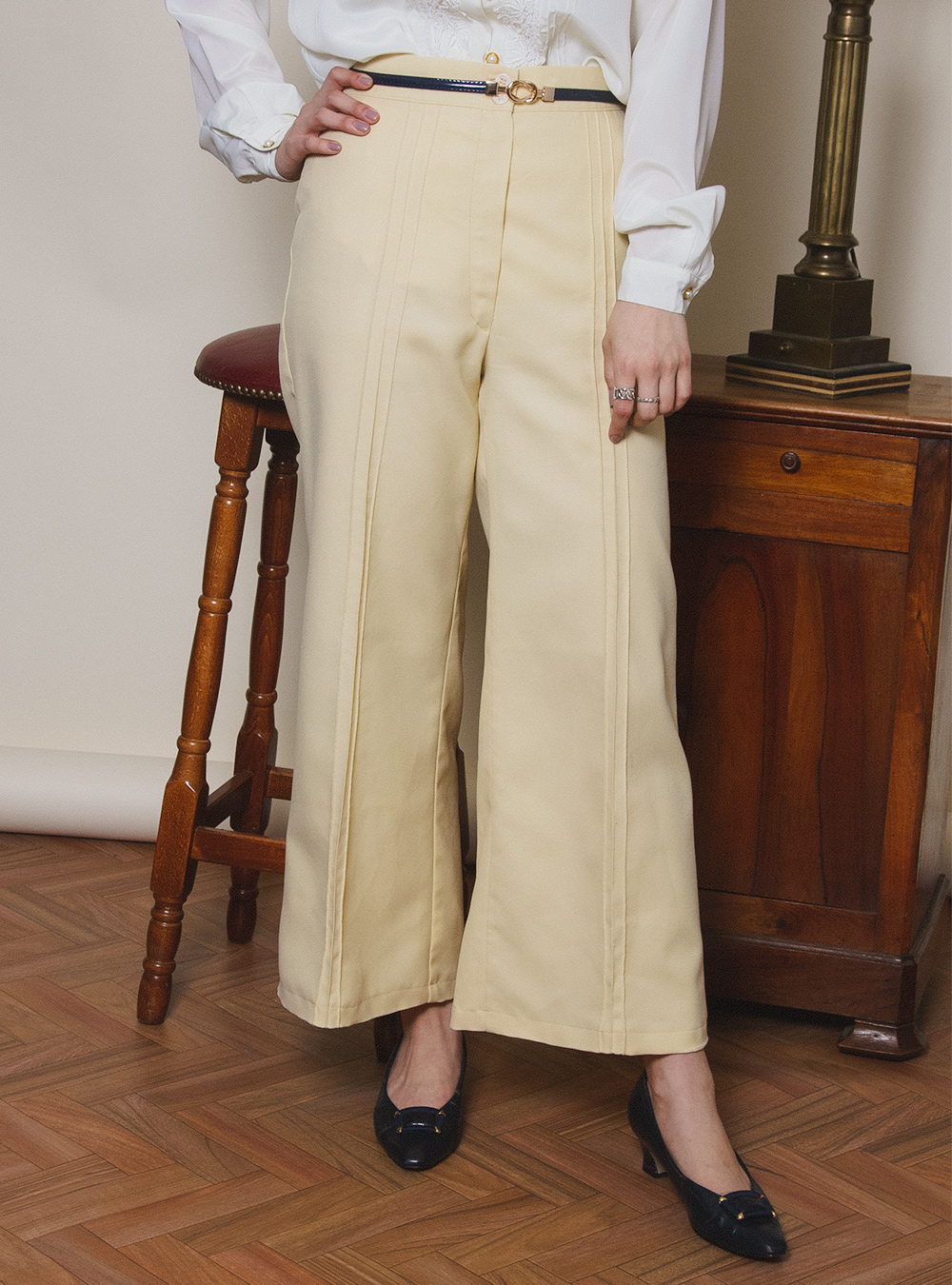 Lemon Yellow Wide Pants