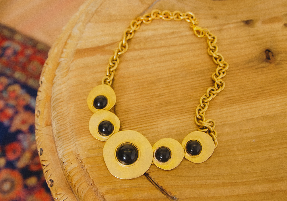 Black×Gold Nuance Necklace