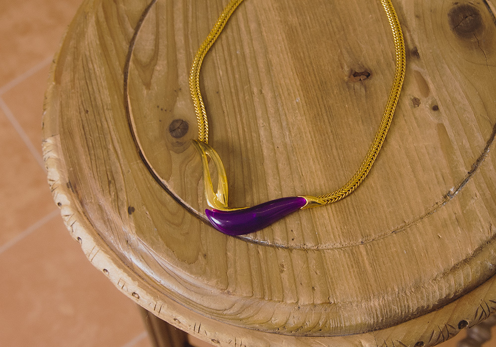 Purple × Gold Necklace