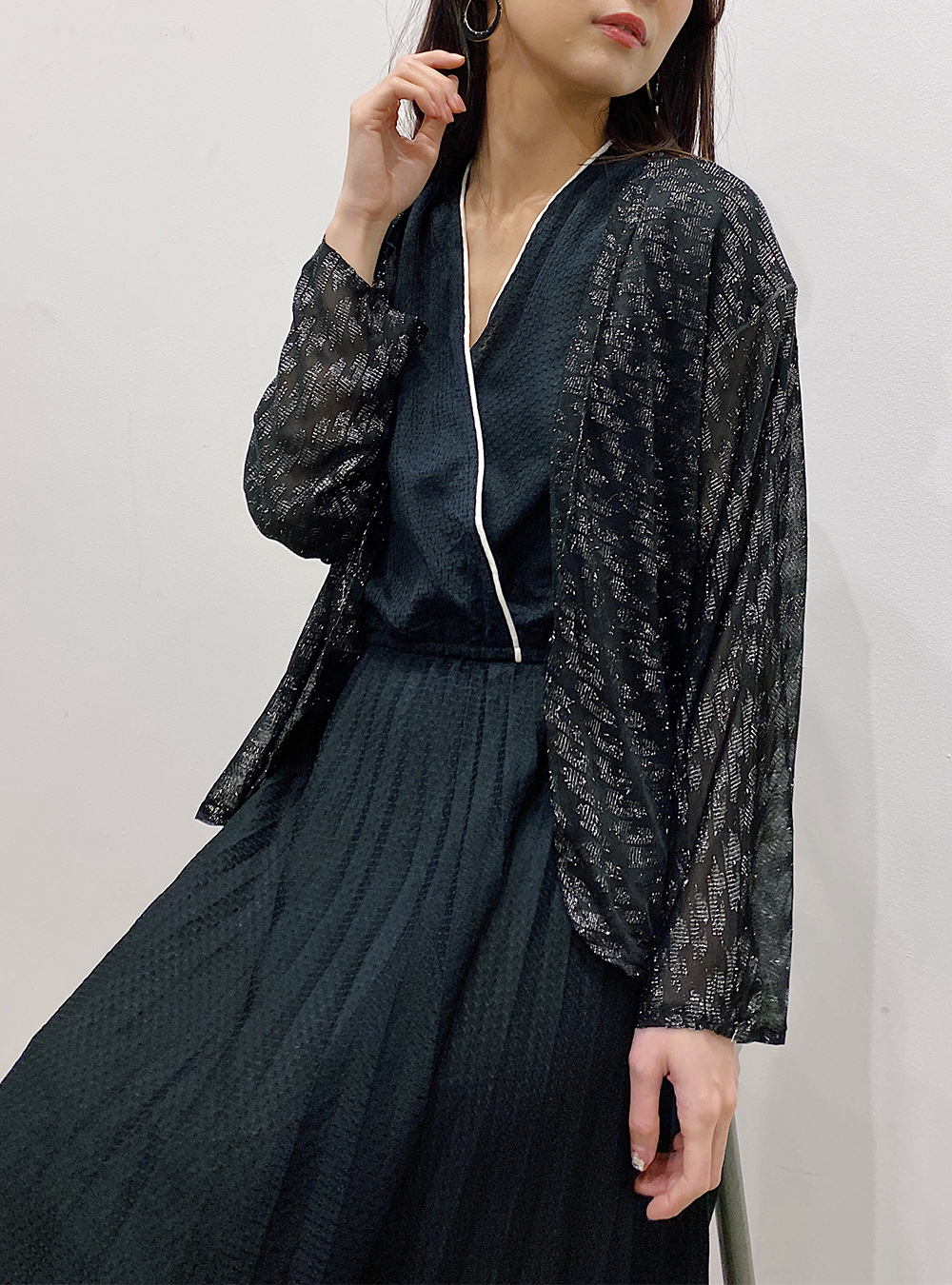Made in EURO Sheer Glitter Cardigan