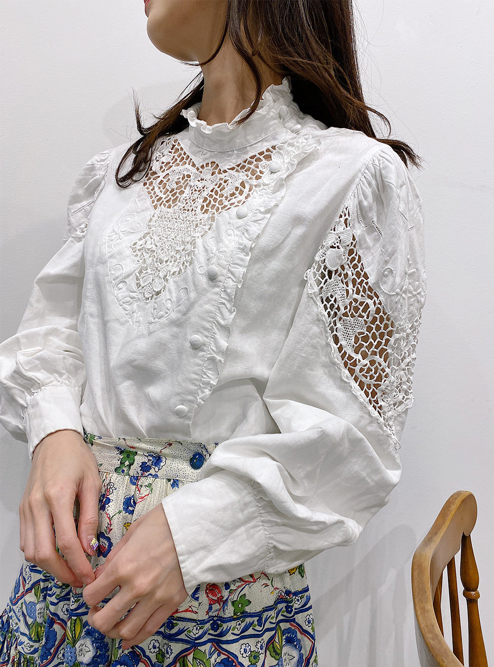 Made in EURO Cotton Embroidery Blouse