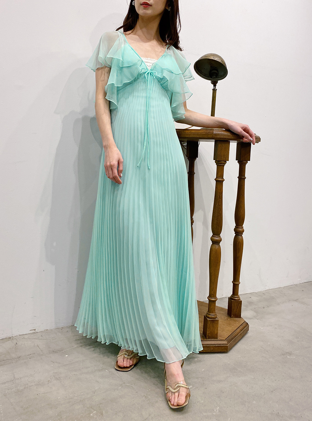1970's Mint Green Sheer Dress