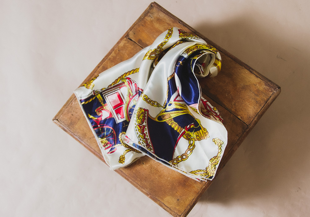 Tricolore Colour Motif Design Scarf