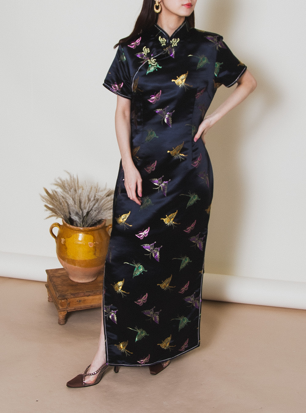 Butterfly Print China Design Dress