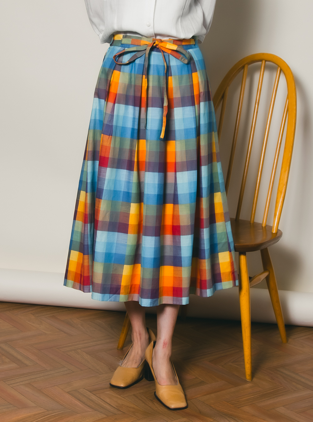 EURO Malti Color Check Skirt