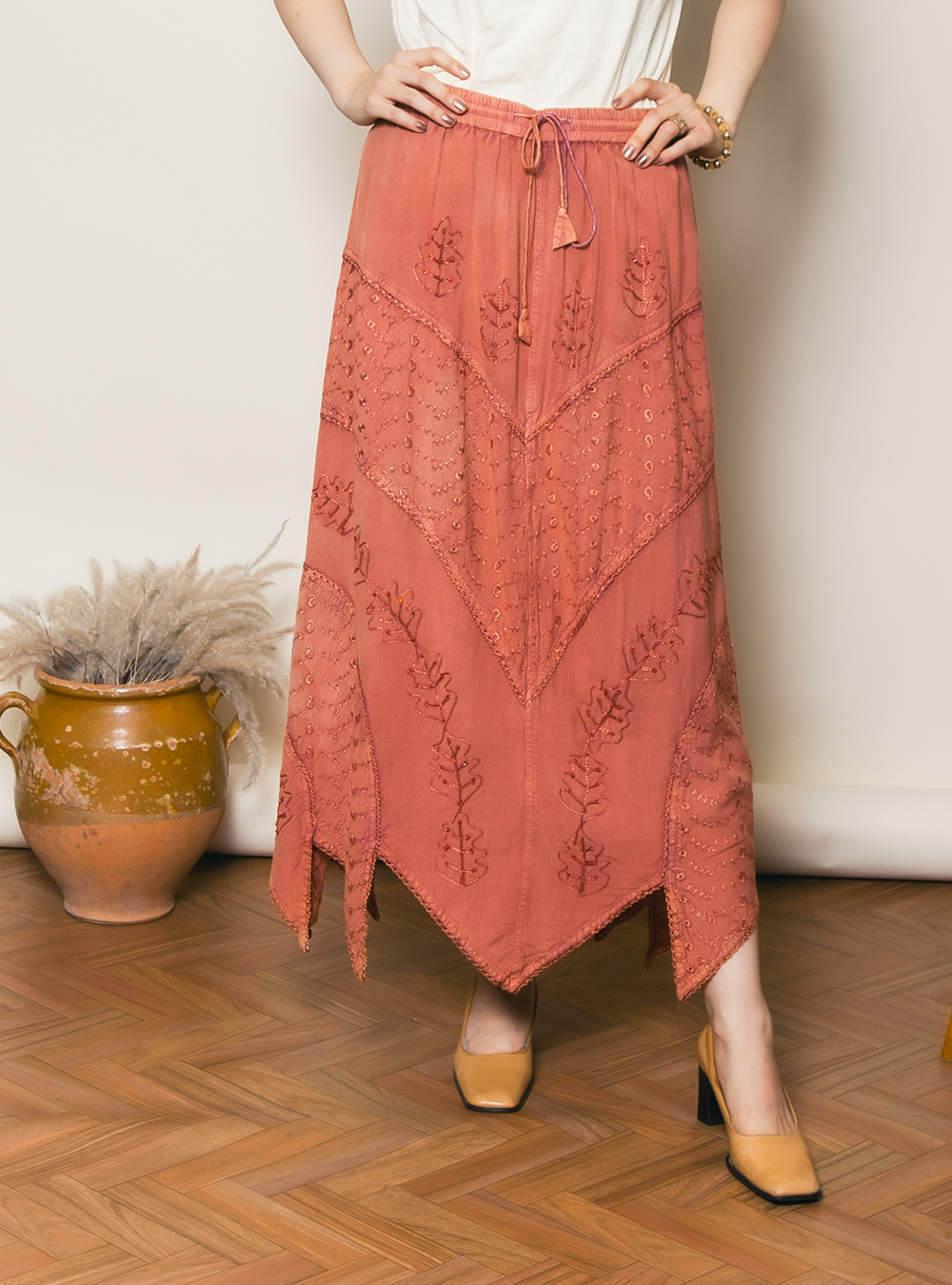 Indian Blood Orange Skirt