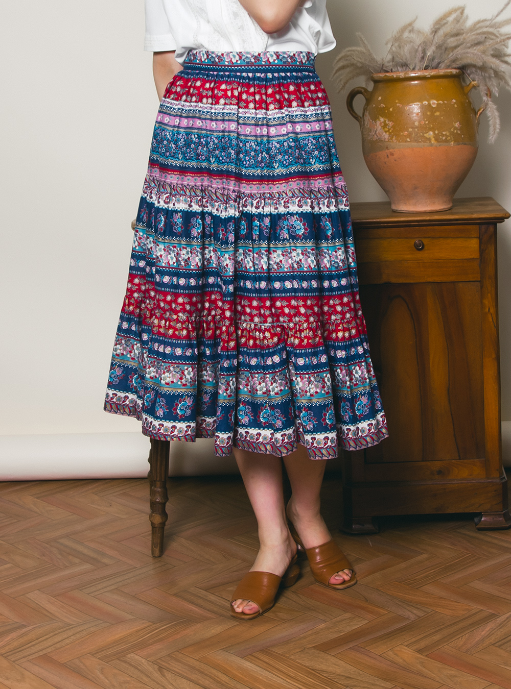 Ethnic Design Print Skirt