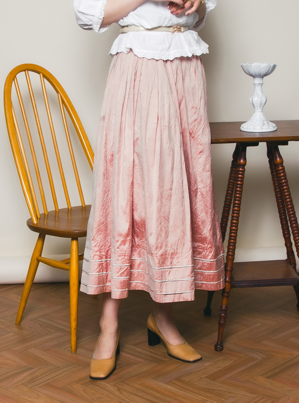 EURO Light Pink Shiny Skirt