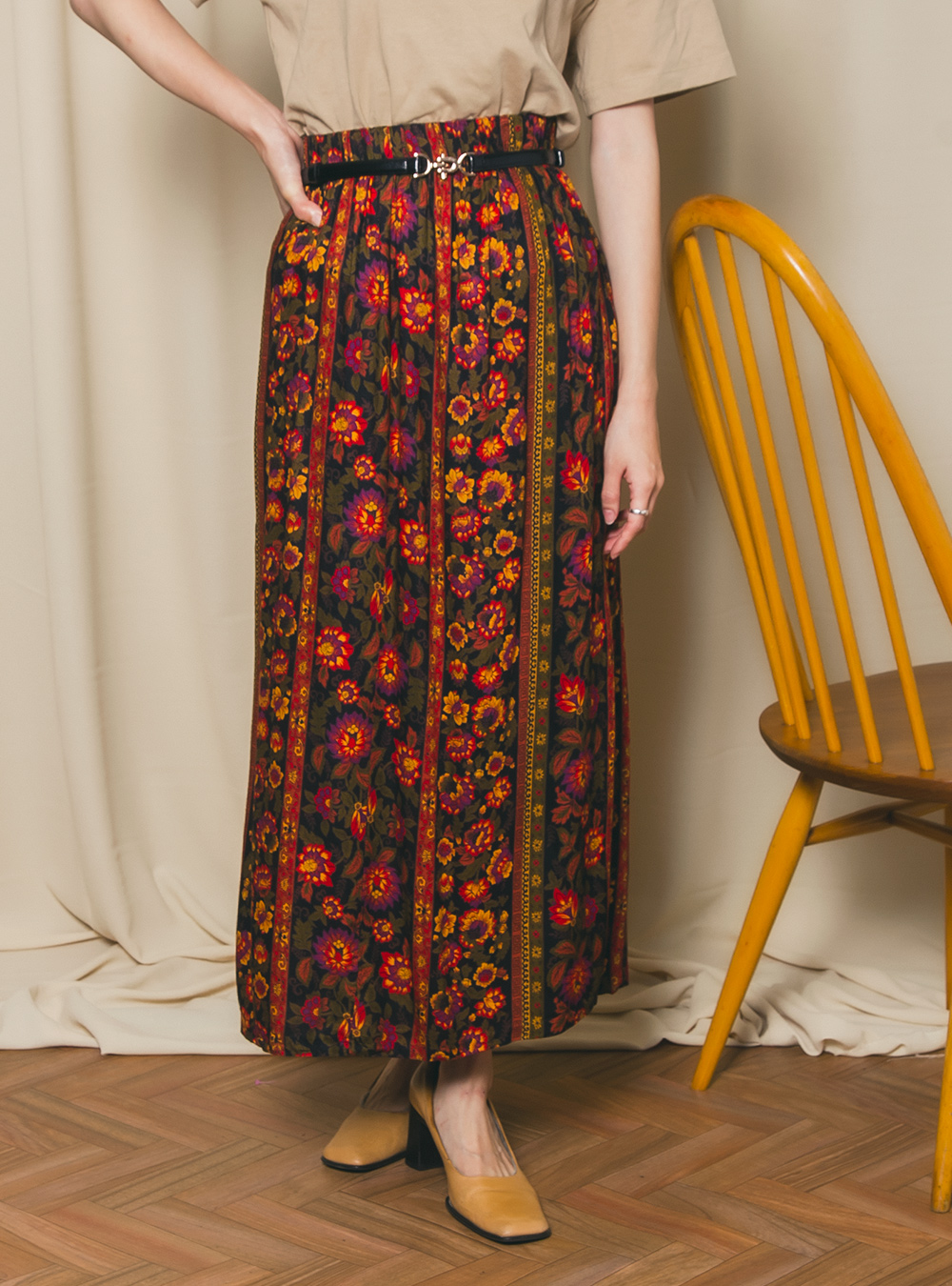 Exotic Flower Flare Skirt