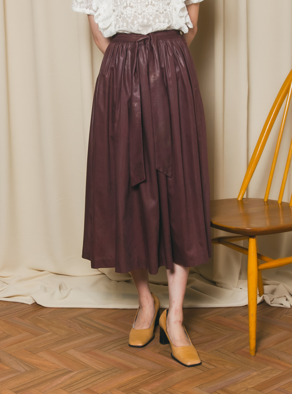 1970's Brown Flare Skirt