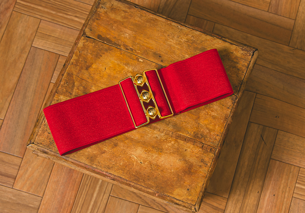 Red Gold Design Belt