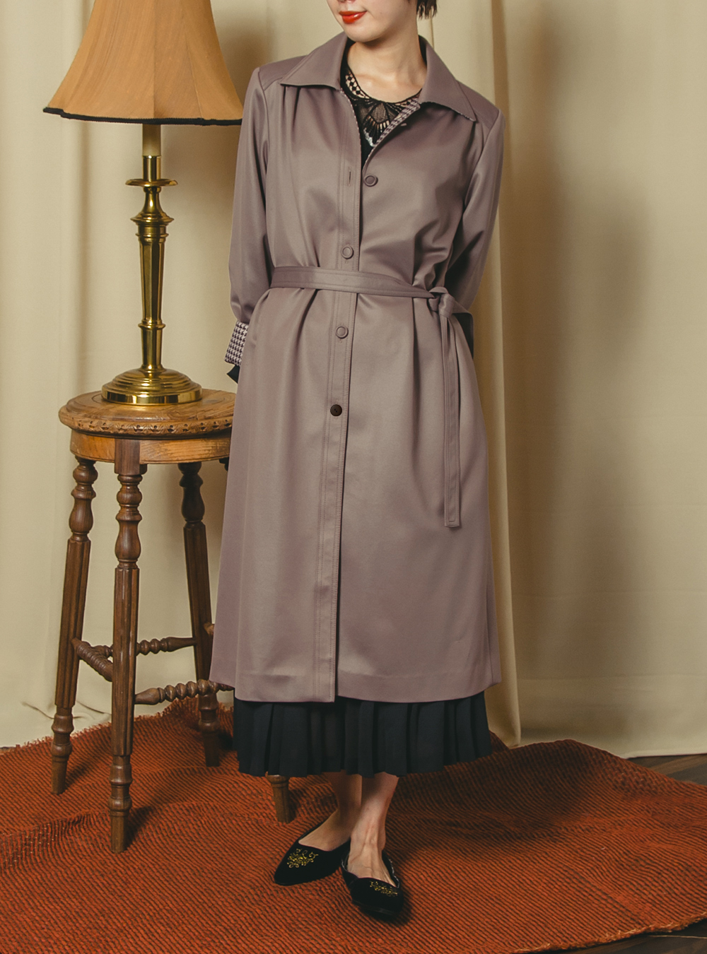Dusty Purple Design Coat