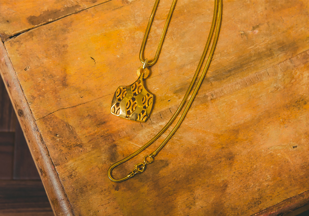 Gold Design Necklace