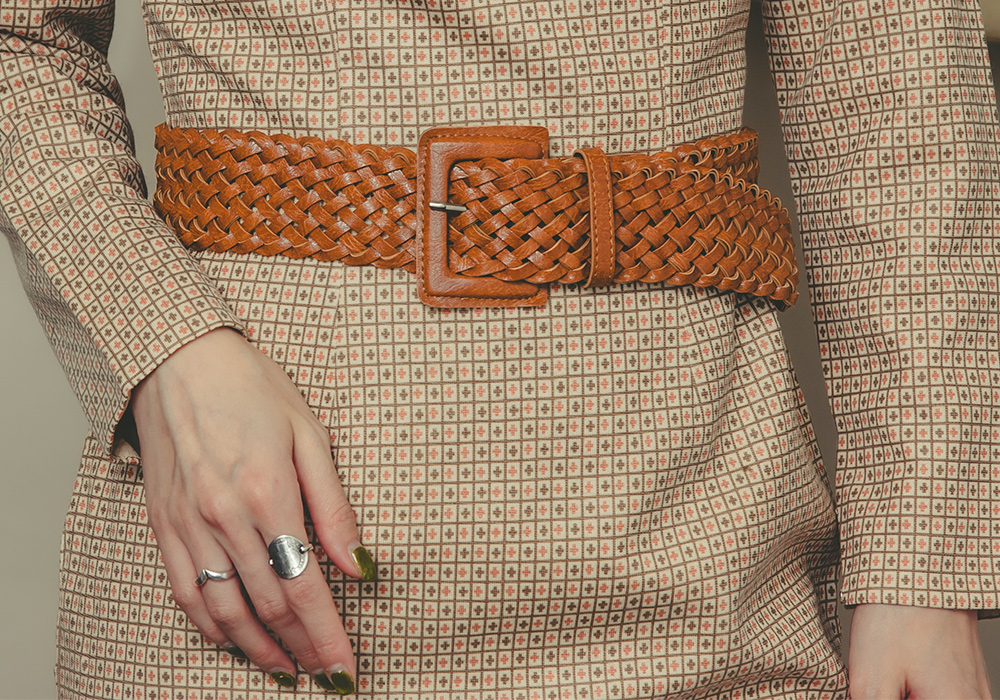 Brown Design Mesh Belt