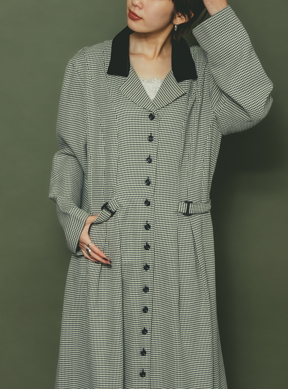 Monotone Plover Pattern Dress