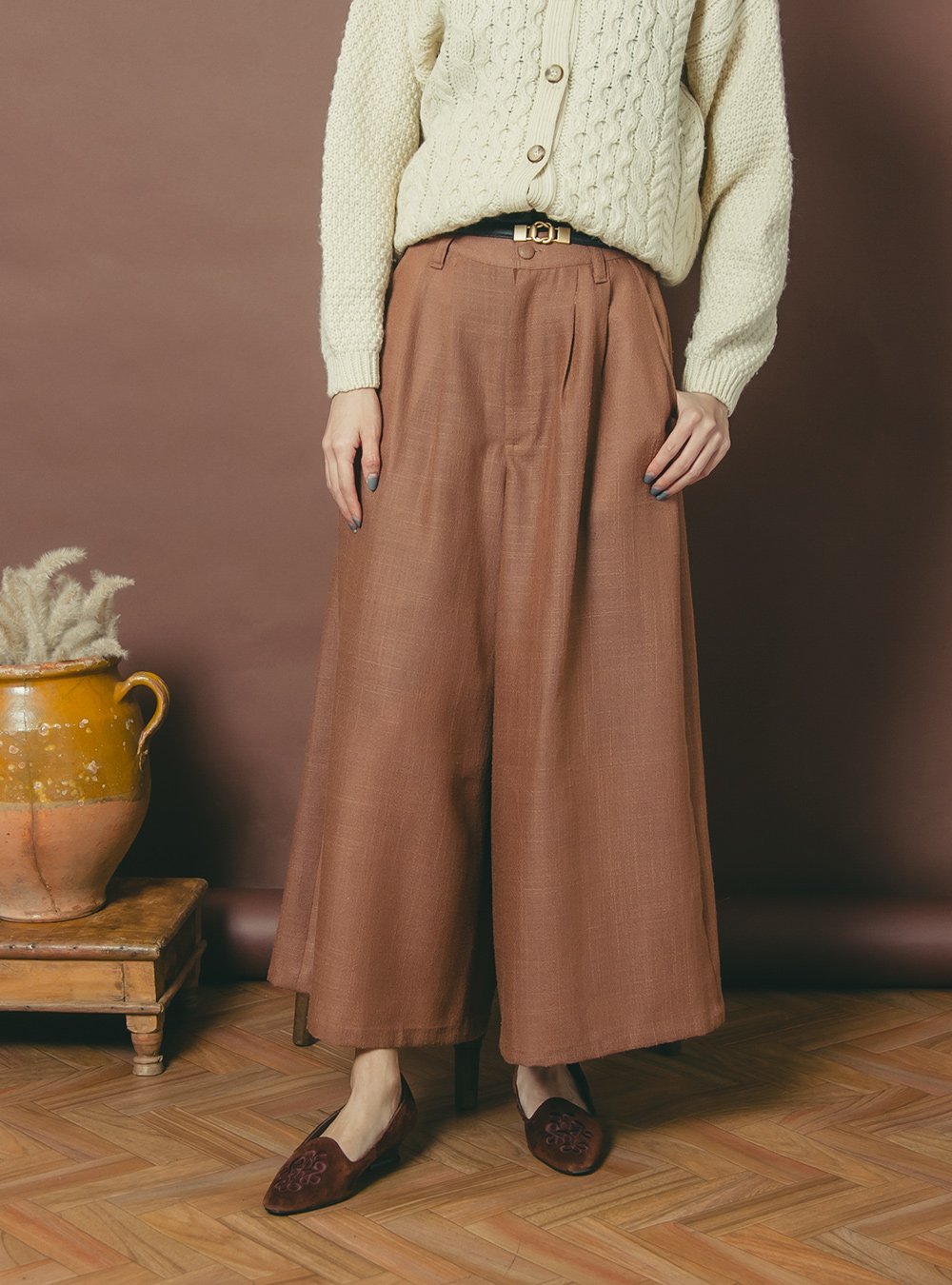 Brown Wide Pants