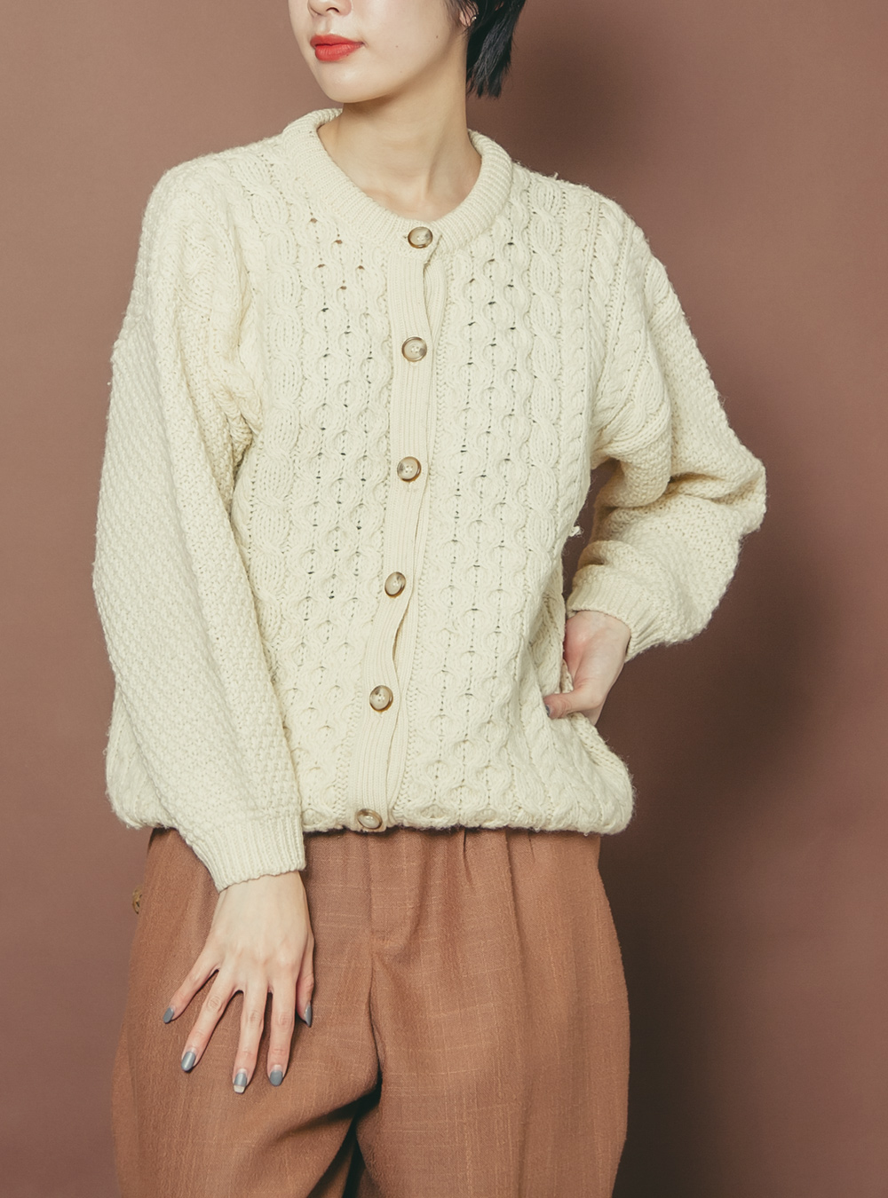 Made in Scotland Ivory Cable Wool Knit