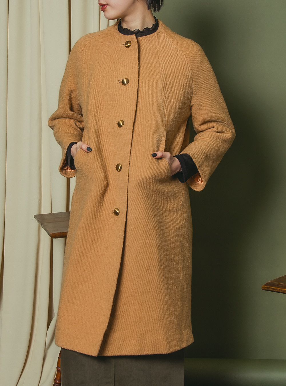 1950's Light Brown Tailored Coat