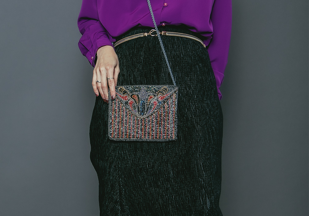 Beads Embroidery Pochette