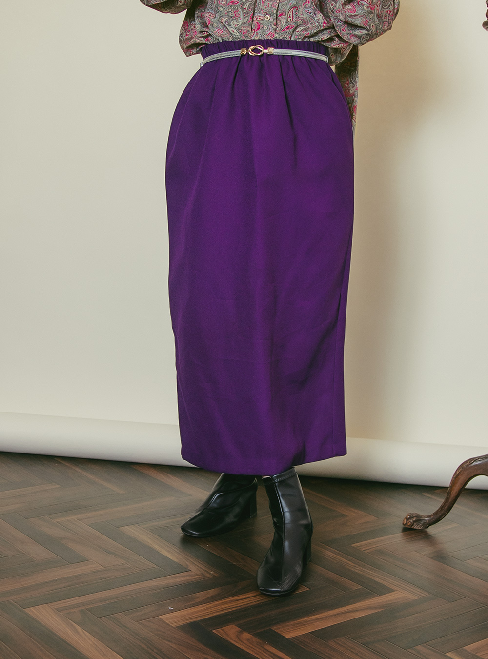 Purple Straight Skirt