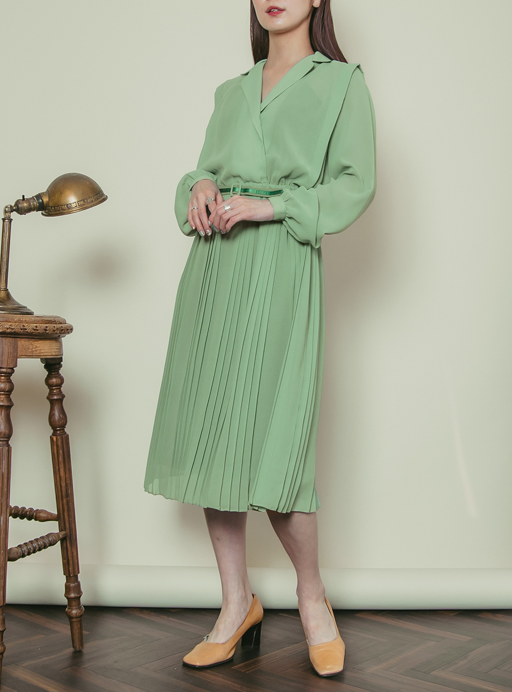 1970's Mint Green Shirt Dress