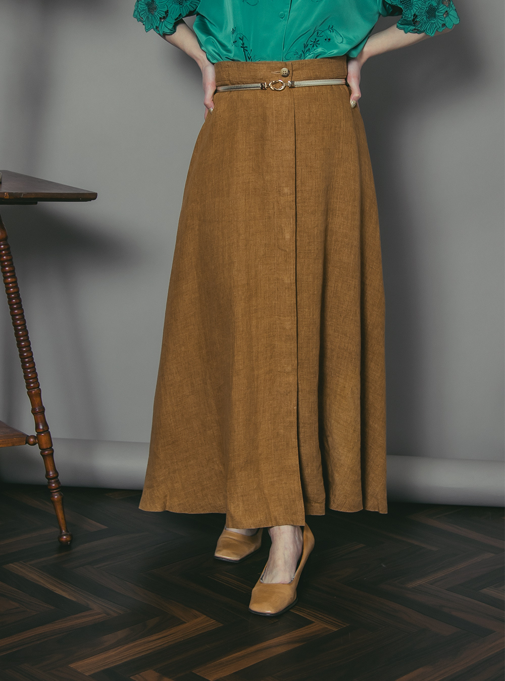 Yellow Ocher Flare Skirt