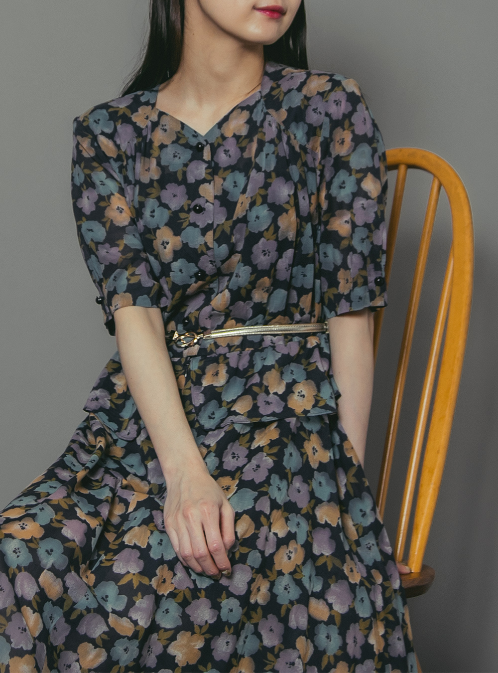 Multicolor Flower Print Dress