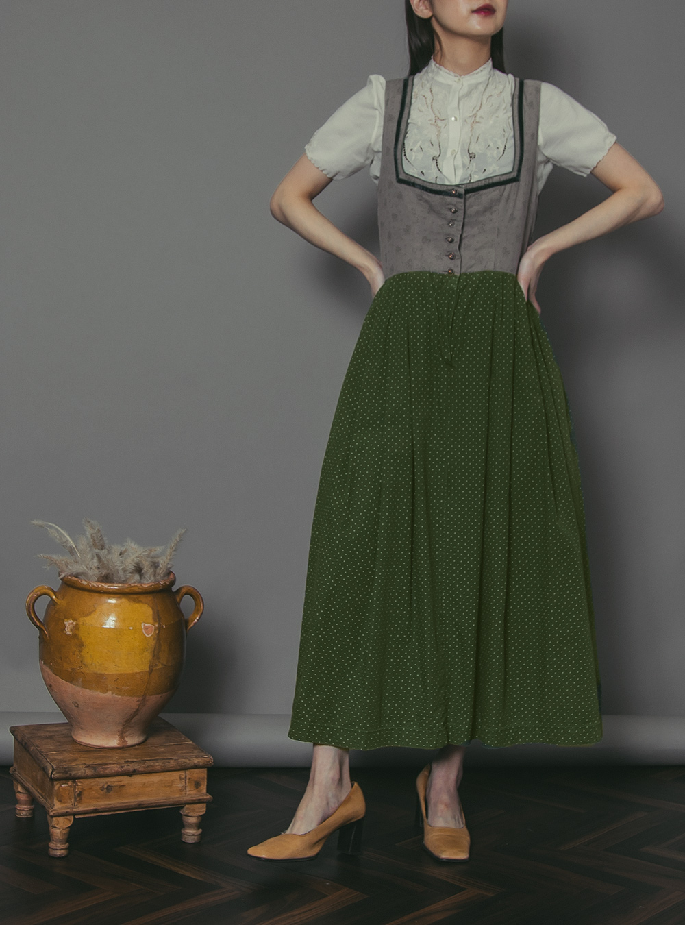 Greige × Green Tyrol Jumper Dress