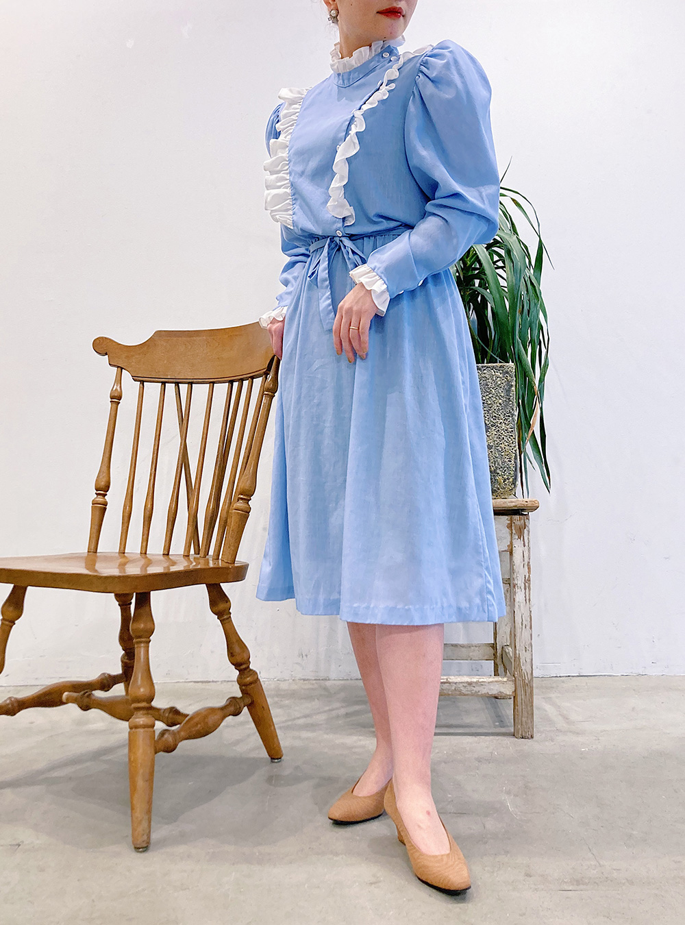 Alice Blue Frill Design Dress